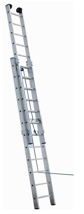 Лестница раздвижная алюминиевая